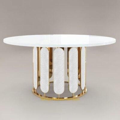 bàn ăn inox mạ vàng sultana-i