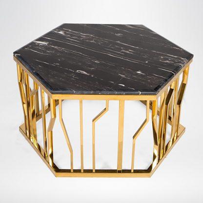 Bàn trà inox mạ vàng Ginza Table