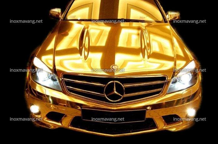 inox mạ vàng titan pvd cho xe sang