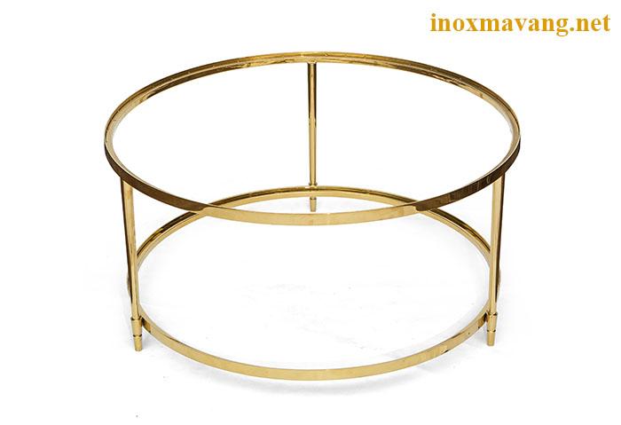 Chân bàn trà inox mạ vàng titan, thiết kế thanh lịch