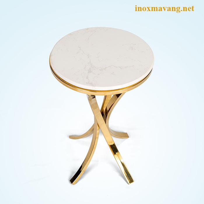 Chân side table xoè inox mạ vàng