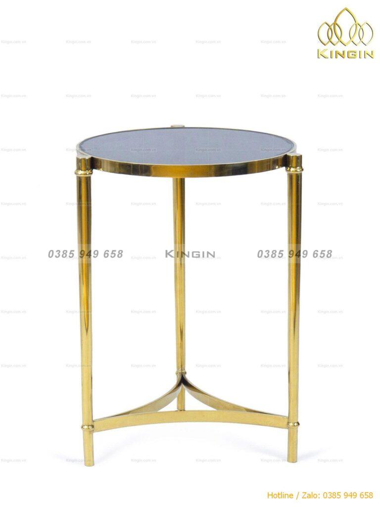 Chân bàn side tab inox mạ vàng