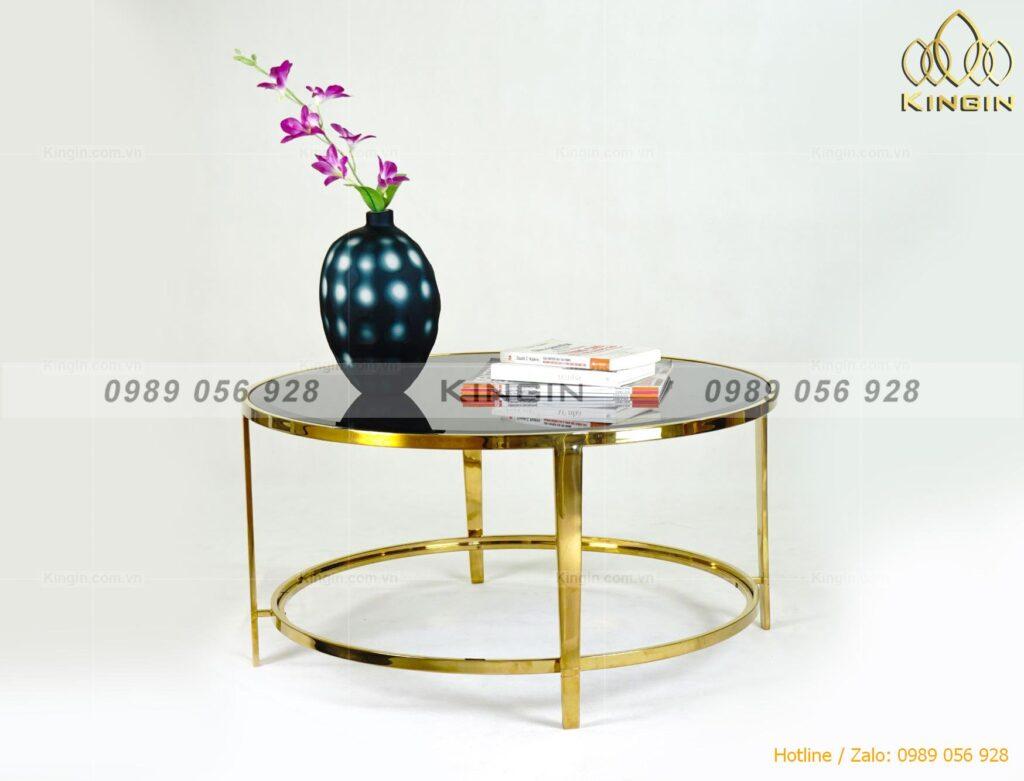 Chân bàn tròn inox mạ vàng