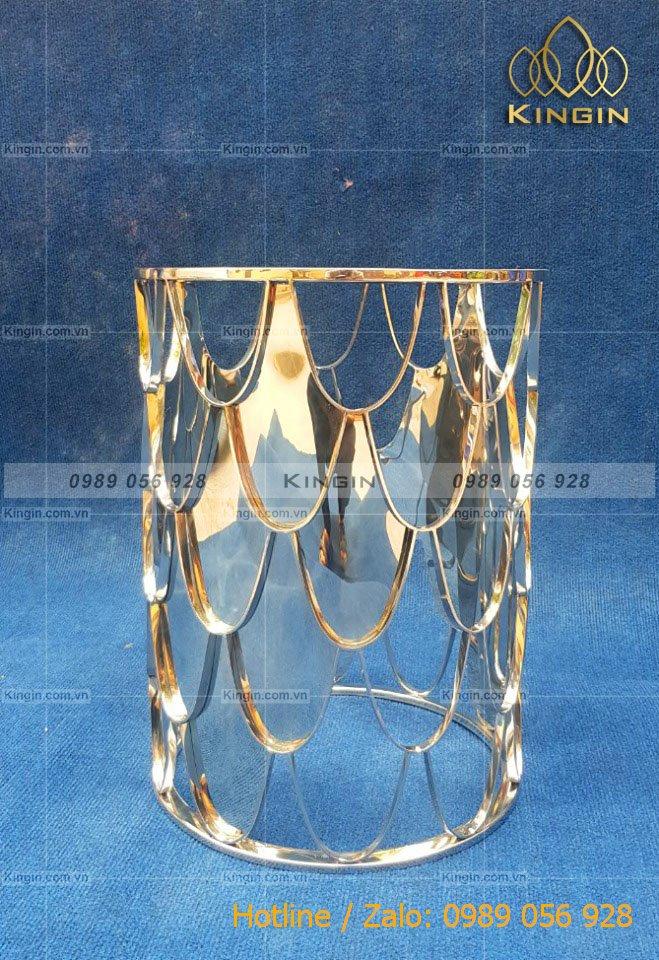 Side tab inox bóng gương hoạ tiết vảy cá