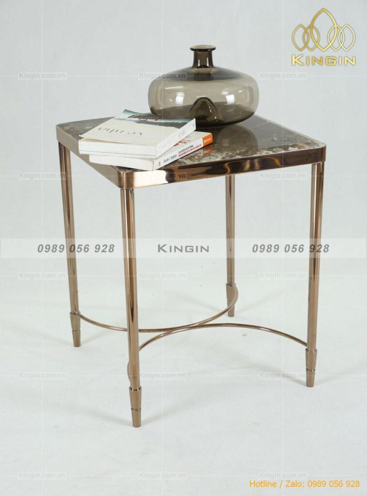 Chân bàn side tab inox mạ đồng