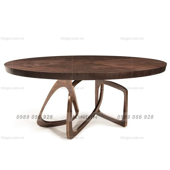 Chân bàn ăn inox mạ đồng cao cấp