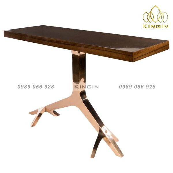 Chân bàn console cao cấp inox mạ đồng