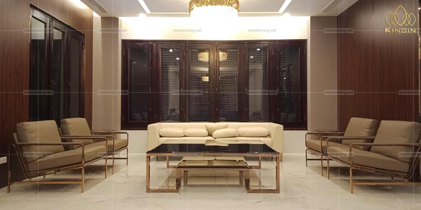 nội thất inox mạ vàng pvd titan